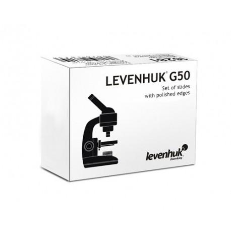 Szkiełka podstawowe Levenhuk G50, 50 sztuk