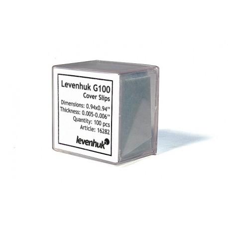 Szkiełka nakrywkowe Levenhuk G100, 100 sztuk